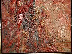"Anthony Toney, ""Man"", Oil on Canvas, 1963"