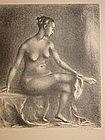 Nude, Original Lithograph, Clara Klinghoffer