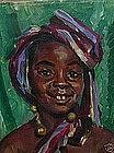 Louise Schacht, Orientalist Portrait, circa 1920's
