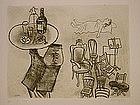 """William Gropper, """"Dream"""", original etching"""