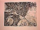 "Wendell H. Black, ""Evil Root II"", Intaglio, 1956"