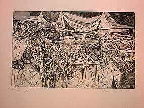 """Wendell H. Black, """"Spawn II"""", Intaglio, 1955"""