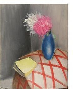 "Maurice Esnault, ""Still Life with Flowers"""