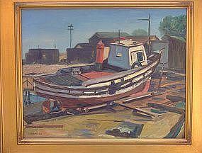 "Donald Litchfield, ""Dry Dock"", circa 1940"