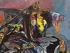 "JACOB LANDAU, ""DREAM PALACE"", ORIGINAL WATERCOLOR"