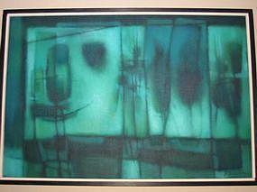 Untitled abstract, J. Bardin, circa 1960's