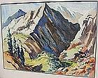 """Montague Charman, """"Rocky Mountain Landscape"""""""