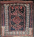 Antique Unusual Kurdish Bag Front, circa 1900