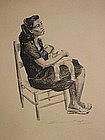Seymour Kaplan, Original Lithograph, 1949