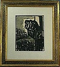 BENJAMIN KOPMAN, UNTITLED INK WASH PAINTING, 1940