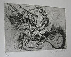 ANDRE RACZ, COPPER ENGRAVINGS, 1945-1949
