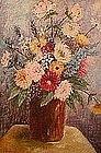 GIORGI MANUILOV, FLORAL STILL LIFE, CIRCA 1940