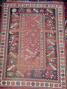 Antique Melaz (Melez, Milas) Prayer Rug, 19th Century