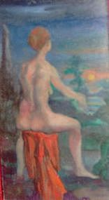 ARTHUR ALBERT, NUDE IN A LANDSCAPE