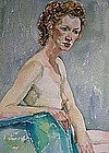 "RUTH FORREST, ""FEMALE NUDE"", CIRCA 1940'S"