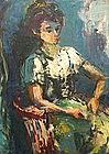 ALEXANDER REDEIN, ORIGINAL PAINTING, 1951