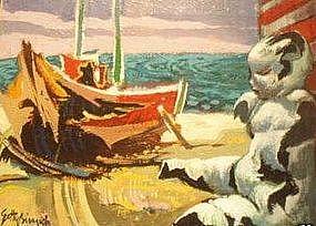 "GETTY BISAGNI, ""DOLL ON THE BEACH"""