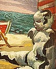 "GETTY BISAGNI, ""DOLL ON THE BEACH"""
