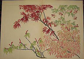 KONAN TANIGAMI, ORIGINAL JAPANESE WOODBLOCK, OVERSIZE.
