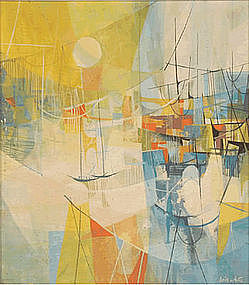 DORIS A. WHITE, UNTITLED OIL PAINTING, CIRCA 1960