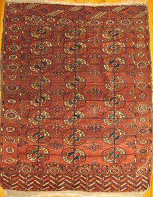 ANTIQUE TEKKE DOWRY RUG