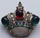CoroCraft Sterling Crown Brooch--Adolph Katz -1944