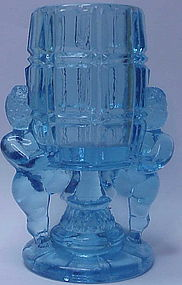 McKee Peek-a-Boo (cherub) blue toothpick holder (1904)