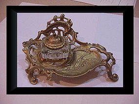 Louise XVI inkwell & stand Virginia Metalcrafters