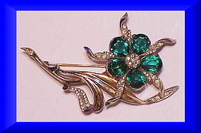 Reja sterling floral brooch