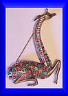 Thelma Deutsch giraffe silver tone