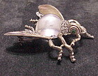 Trifari Alfred Philippe sterling jelly belly fly brooch