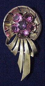 Boucher PHRYGIAN cap sterling vermeil brooch