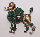 Trifari Alfred Philippe Poodle brooch - emerald green