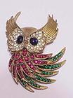 Trifari 'Alfred Philippe 'Firebirds' Owl brooch
