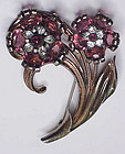 Pennino Sterling dimensional floral brooch