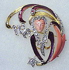 DeNicola Virgo Tinted Lucite Star Sign brooch