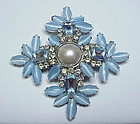 "Vrba, Lawrence snowflake brooch- 3 3/4"" square"