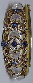 Trifari Alfred Philippe 'Clair de Lune' Bangle Bracelet