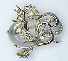 Trifari. Philippe Fairyland jelly belly rooster brooch