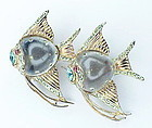 Corocraft sterling vermeil jelly belly Angelfish duette