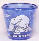 "Hazel Atlas "" Sportsman series"" windmill cocktail mixer"