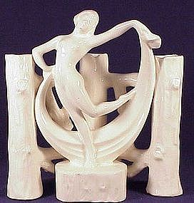 Erphila Fayence Germany scarf dancer posy holder vase