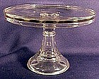American pressed glass cake stand