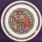 Refus D'Hebergement 1977 Noel Vitrail Plate
