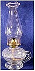 P & A Footed kerosene finger lamp