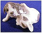 Royal Copenhagen Fused Pointer Puppies Playing puppies