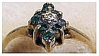 10K yellow gold emerald & diamond center stone (size 6)