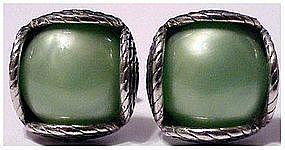 Swank Deco green designer cuff links, cufflinks