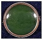 """Burmese Jade pin with a """"c"""" clasp (1 5/8"""" diameter)"""