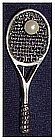 Mexican sterling tennis racket and ball pin